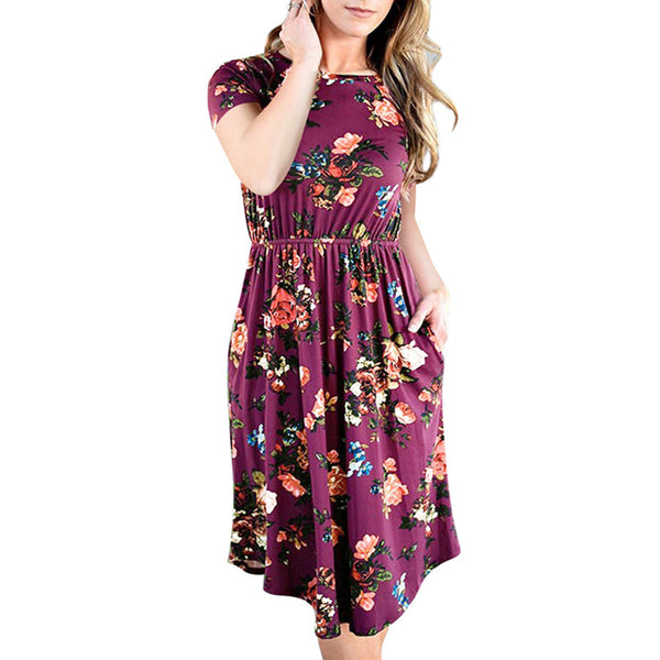 Floral Summer Bohemian Dress - SINCOS CLOTHING WOMAN ONLINE CHEAP AFTERPAY DRESSES PLUS SIZE ZIPPAY