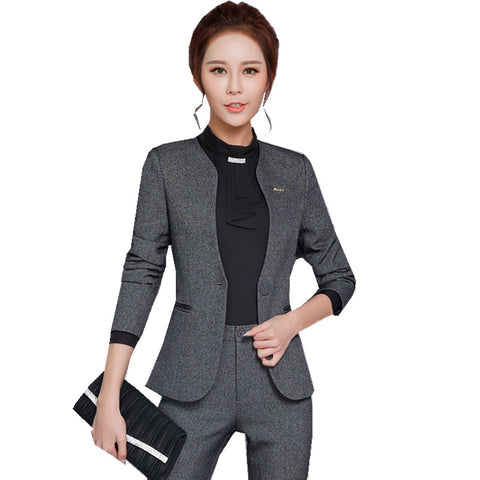Notched Blazer & Pencil Pants Suits - SINCOS CLOTHING WOMAN ONLINE CHEAP AFTERPAY DRESSES PLUS SIZE GOOGLE FASHION NEW STYLE HOT SEXY PARTY JUMPSUITS TOP TEES SUITS BLAZER JACKETS COATS HOODIES SWEATSHIRTS FLORAL BUSINESS