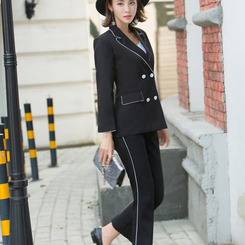 Black Uniform Blazer & Pants - SINCOS CLOTHING WOMAN ONLINE CHEAP AFTERPAY DRESSES PLUS SIZE GOOGLE FASHION NEW STYLE HOT SEXY PARTY JUMPSUITS TOP TEES SUITS BLAZER JACKETS COATS HOODIES SWEATSHIRTS FLORAL BUSINESS