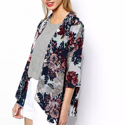 Floral Cardigan - SINCOS CLOTHING WOMAN ONLINE CHEAP AFTERPAY DRESSES PLUS SIZE GOOGLE FASHION NEW STYLE HOT SEXY PARTY JUMPSUITS TOP TEES SUITS BLAZER JACKETS COATS HOODIES SWEATSHIRTS FLORAL BUSINESS