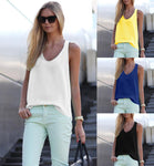 2018 New Women Summer Casual Tank Tops Sleeveless Chiffon Loose Vest Top Blouse Tee Shirt Hot Selling - SINCOS CLOTHING WOMAN ONLINE CHEAP AFTERPAY DRESSES PLUS SIZE ZIPPAY
