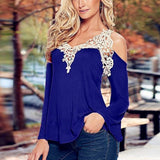 Crochet Long Sleeve Blouse Tops & Tees SINCOS Women Clothing Store Flash Sales