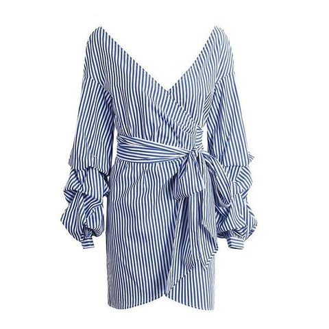 Wrap Bow Belt Dress - SINCOS CLOTHING WOMAN ONLINE CHEAP AFTERPAY DRESSES PLUS SIZE GOOGLE FASHION NEW STYLE HOT SEXY PARTY JUMPSUITS TOP TEES SUITS BLAZER JACKETS COATS HOODIES SWEATSHIRTS FLORAL BUSINESS