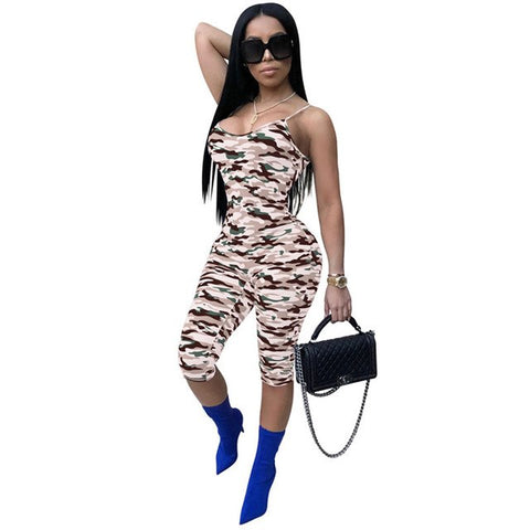 Camouflage Sleeveless Jumpsuit - SINCOS CLOTHING WOMAN ONLINE CHEAP AFTERPAY DRESSES PLUS SIZE GOOGLE FASHION NEW STYLE HOT SEXY PARTY JUMPSUITS TOP TEES SUITS BLAZER JACKETS COATS HOODIES SWEATSHIRTS FLORAL BUSINESS