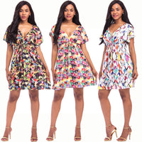 Printed Short Sexy Dress - SINCOS CLOTHING WOMAN ONLINE CHEAP AFTERPAY DRESSES PLUS SIZE GOOGLE FASHION NEW STYLE HOT SEXY PARTY JUMPSUITS TOP TEES SUITS BLAZER JACKETS COATS HOODIES SWEATSHIRTS FLORAL BUSINESS