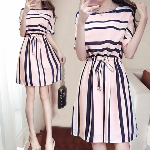 Casual Striped Dress - SINCOS CLOTHING WOMAN ONLINE CHEAP AFTERPAY DRESSES PLUS SIZE GOOGLE FASHION NEW STYLE HOT SEXY PARTY JUMPSUITS TOP TEES SUITS BLAZER JACKETS COATS HOODIES SWEATSHIRTS FLORAL BUSINESS