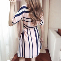 Casual Striped Dress Dresses SINCOS Women Clothing Store Flash Sales