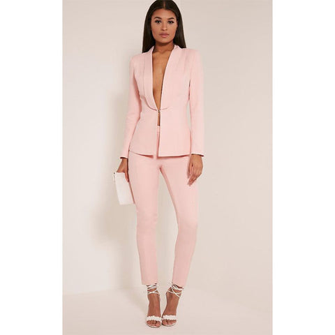Jacket &P Pants Suit - SINCOS CLOTHING WOMAN ONLINE CHEAP AFTERPAY DRESSES PLUS SIZE GOOGLE FASHION NEW STYLE HOT SEXY PARTY JUMPSUITS TOP TEES SUITS BLAZER JACKETS COATS HOODIES SWEATSHIRTS FLORAL BUSINESS