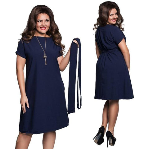 5XL 6XL Large Size Elegance Fashion Summer Dress 2018 Club Party Dresses for Women Plus Size O-Neck Casual Women Dress Vestidos - SINCOS CLOTHING WOMAN ONLINE CHEAP AFTERPAY DRESSES PLUS SIZE GOOGLE FASHION NEW STYLE HOT SEXY PARTY JUMPSUITS TOP TEES SUITS BLAZER JACKETS COATS HOODIES SWEATSHIRTS FLORAL BUSINESS
