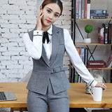2 Piece Waistcoat Sleeveless Blazer - SINCOS CLOTHING WOMAN ONLINE CHEAP AFTERPAY DRESSES PLUS SIZE GOOGLE FASHION NEW STYLE HOT SEXY PARTY JUMPSUITS TOP TEES SUITS BLAZER JACKETS COATS HOODIES SWEATSHIRTS FLORAL BUSINESS