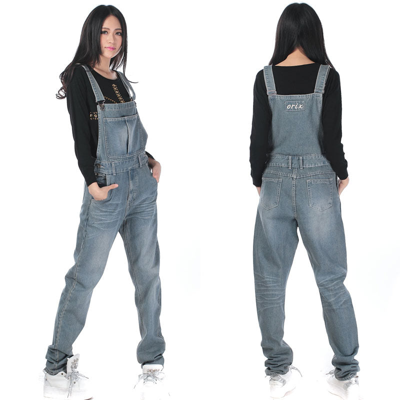 752b42c62cc Free Shipping Jeans Fashion Loose Plus Size XS-5XL Pants For Women High  Quality Overalls
