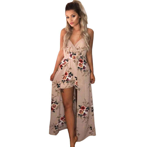 V-Neck Bohemian Jumpsuit - SINCOS CLOTHING WOMAN ONLINE CHEAP AFTERPAY DRESSES PLUS SIZE ZIPPAY WISH ALIEXPRESS GOOGLE