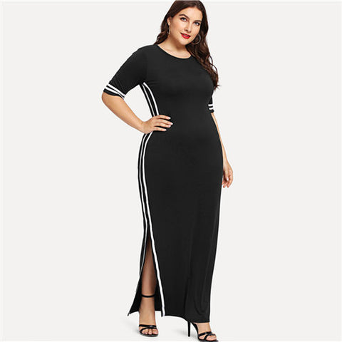 Split Maxi Dress - SINCOS CLOTHING WOMAN ONLINE CHEAP AFTERPAY DRESSES PLUS SIZE GOOGLE FASHION NEW STYLE HOT SEXY PARTY JUMPSUITS TOP TEES SUITS BLAZER JACKETS COATS HOODIES SWEATSHIRTS FLORAL BUSINESS
