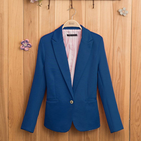 Candy-Colored Blazer - SINCOS CLOTHING WOMAN ONLINE CHEAP AFTERPAY DRESSES PLUS SIZE GOOGLE FASHION NEW STYLE HOT SEXY PARTY JUMPSUITS TOP TEES SUITS BLAZER JACKETS COATS HOODIES SWEATSHIRTS FLORAL BUSINESS