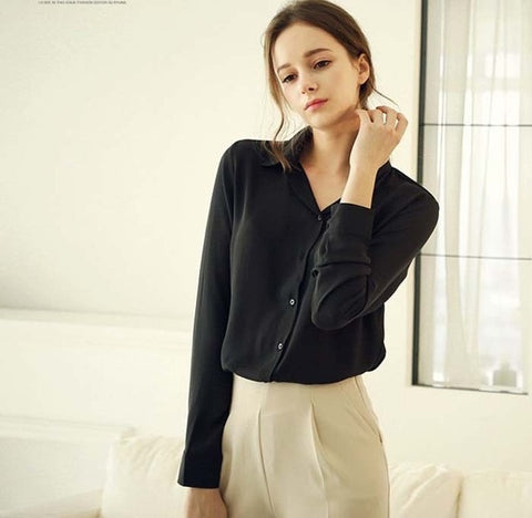 Chiffon Long Sleeve Blouse - SINCOS CLOTHING WOMAN ONLINE CHEAP AFTERPAY DRESSES PLUS SIZE GOOGLE FASHION NEW STYLE HOT SEXY PARTY JUMPSUITS TOP TEES SUITS BLAZER JACKETS COATS HOODIES SWEATSHIRTS FLORAL BUSINESS