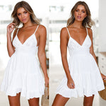 V-Neck Spaghetti Strap Dress - SINCOS CLOTHING WOMAN ONLINE CHEAP AFTERPAY DRESSES PLUS SIZE GOOGLE FASHION NEW STYLE HOT SEXY PARTY JUMPSUITS TOP TEES SUITS BLAZER JACKETS COATS HOODIES SWEATSHIRTS FLORAL BUSINESS