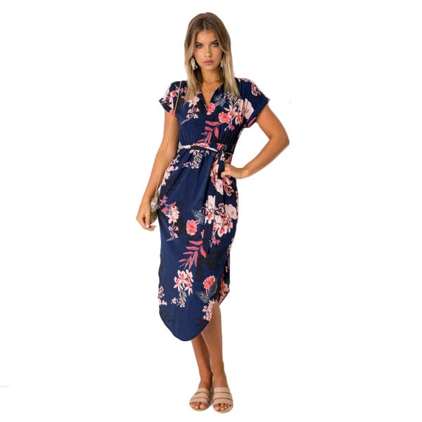 Short Sleeve Casual Dress - SINCOS CLOTHING WOMAN ONLINE CHEAP AFTERPAY DRESSES PLUS SIZE GOOGLE FASHION NEW STYLE HOT SEXY PARTY JUMPSUITS TOP TEES SUITS BLAZER JACKETS COATS HOODIES SWEATSHIRTS FLORAL BUSINESS