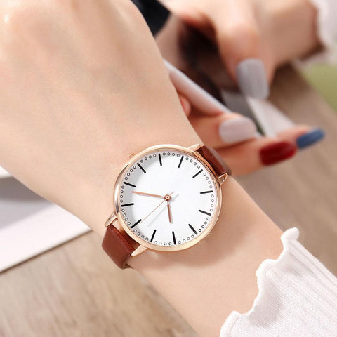 SINCOS SALE Quartz Round Synthetic Watch - SINCOS CLOTHING WOMAN ONLINE CHEAP AFTERPAY DRESSES PLUS SIZE GOOGLE FASHION NEW STYLE HOT SEXY PARTY JUMPSUITS TOP TEES SUITS BLAZER JACKETS COATS HOODIES SWEATSHIRTS FLORAL BUSINESS