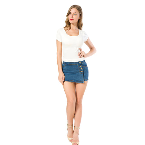 High Waist Short Jeans - SINCOS CLOTHING WOMAN ONLINE CHEAP AFTERPAY DRESSES PLUS SIZE ZIPPAY