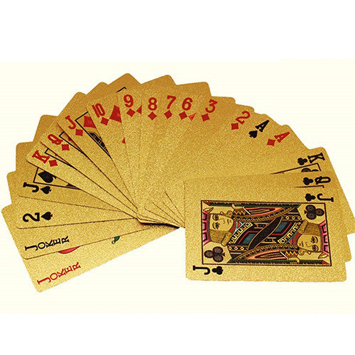 Luxury 24K Gold Foil Playing Cards