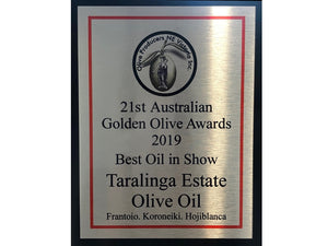 Taralinga wins Best In Show at 2019 Golden Olive Awards