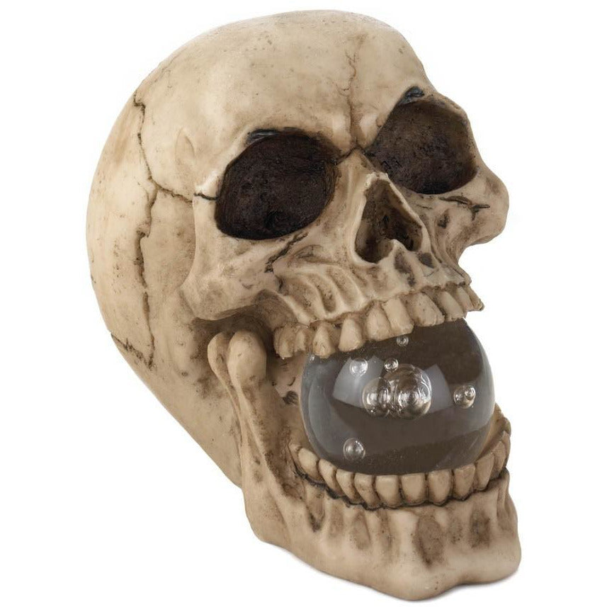 Skull With Led Light Up Crystal Ball