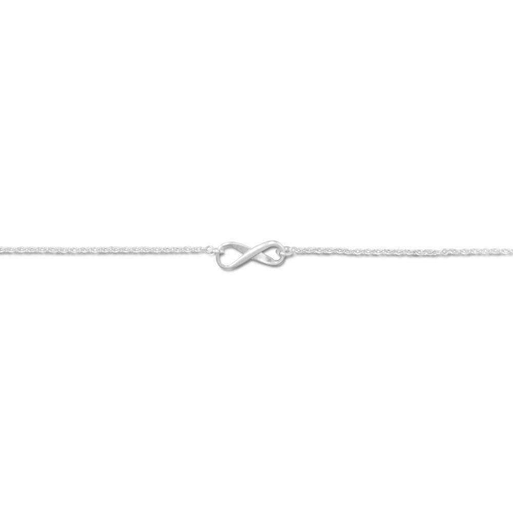 11 inch Sterling Silver Infinity Symbol Anklet