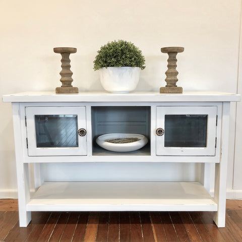 Pure White and Grey Sideboard