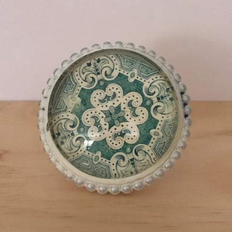 Green Deco Pattern Knob