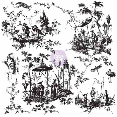 Chinoiserie Toile Stamp