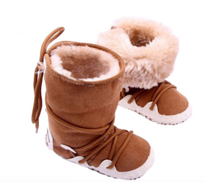 Newborn Shoes - Brown