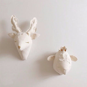 Cute Animal Head Wall Decoration - White Deer