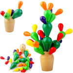 Wooden Prickly Pear Cactus - Creative Development Toy for Kids