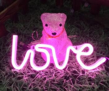 Neon LED Little Lovely Lights - Pink Love Word