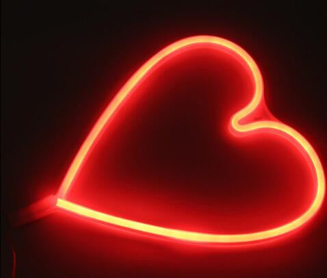 Neon LED Little Lovely Lights - Red Love Heart