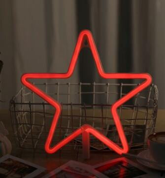 Neon LED Little Lovely Lights - Red Star