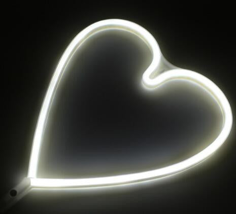 Neon LED Little Lovely Lights - White Love Heart