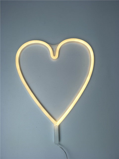 Neon LED Little Lovely Lights - Yellow Love Heart