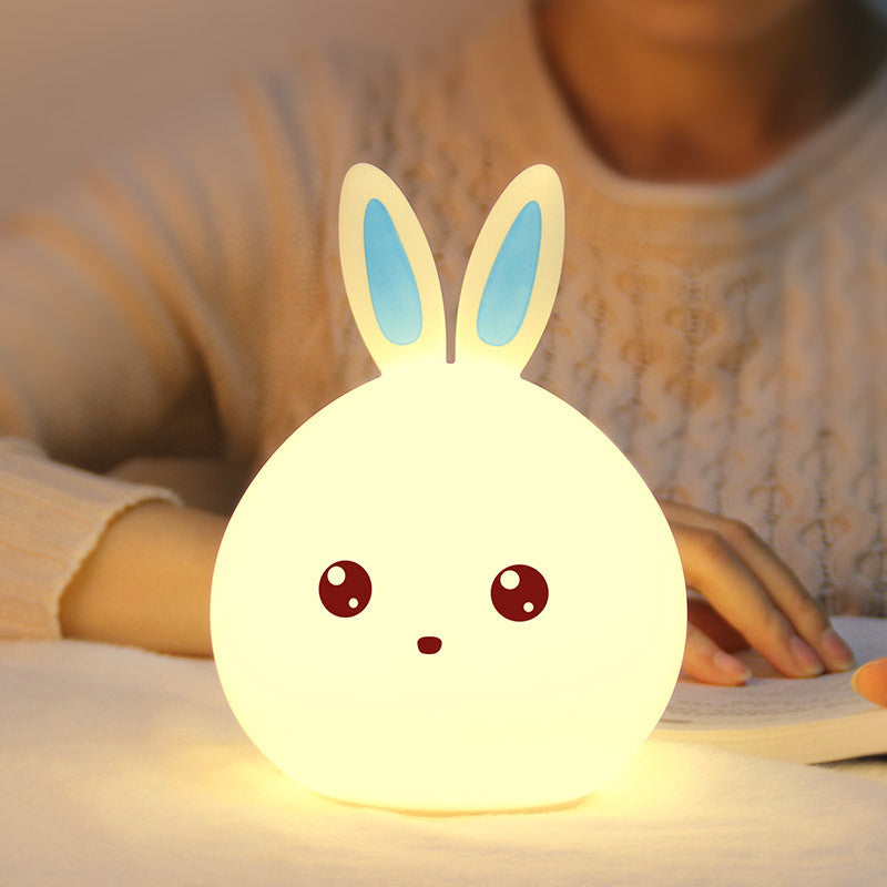 Luminous Multi-coloured USB LED Rabbit Nightlight - Blue ears