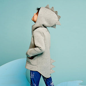 Roarsome Kid's Hoodie with Front Zip - Tracksuit Grey