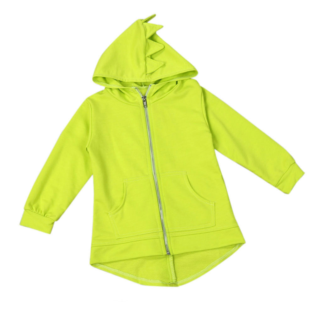 Roarsome Kid's Hoodie with Front Zip - Lime