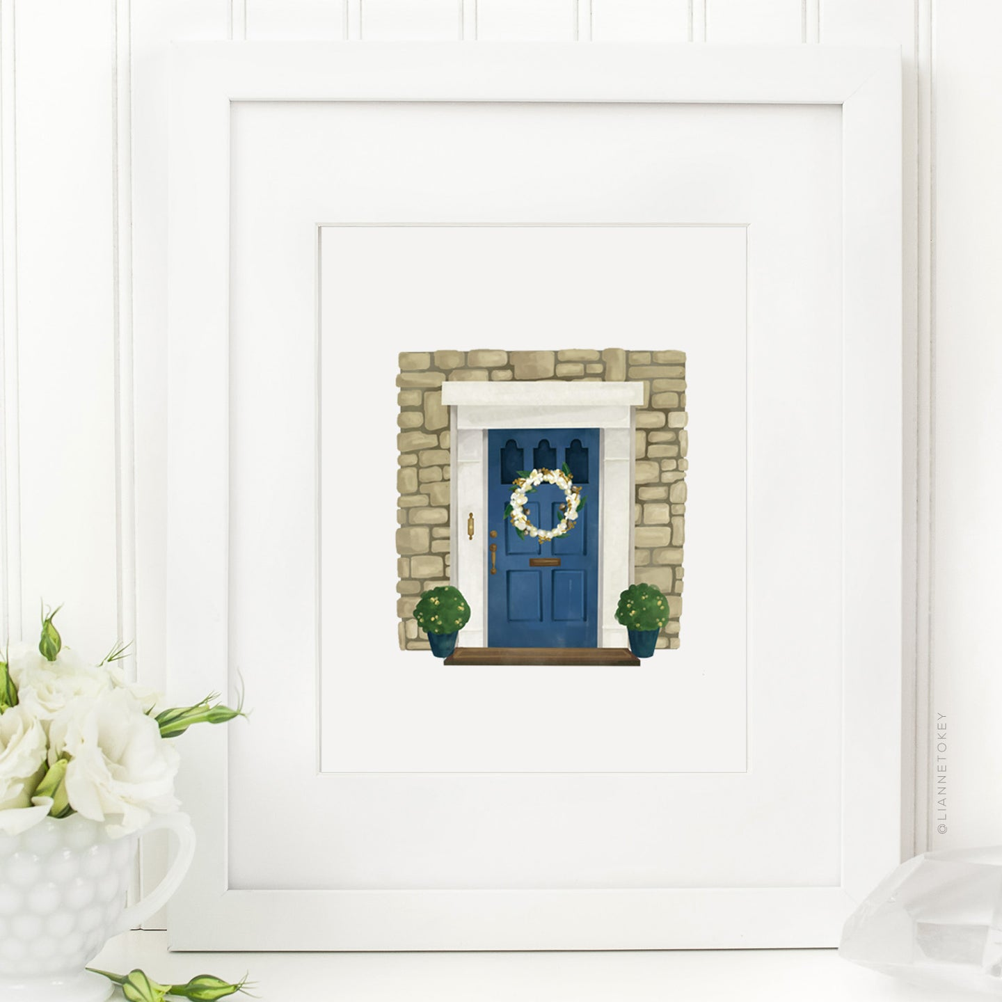 Blue Door Art Print