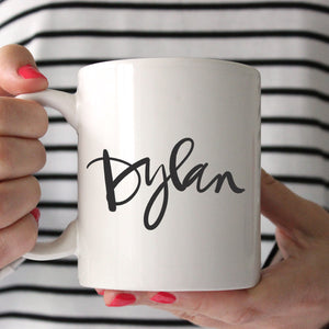 Handlettered Name Mug