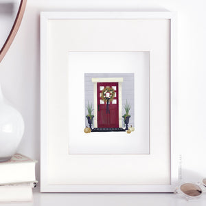 Red Door Art Print