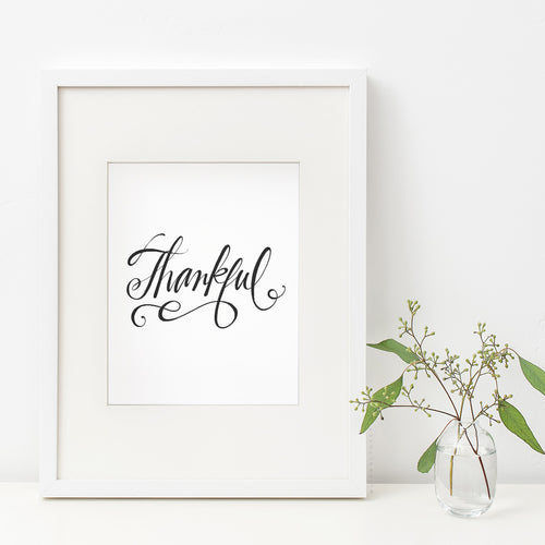 Thankful Art Print