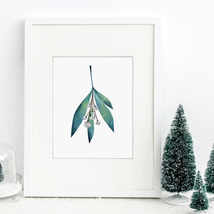 Wintermist Mistletoe Art Print
