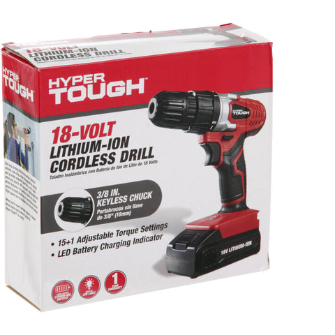 Hyper Tough Lithium-Ion 18 Volt Drill