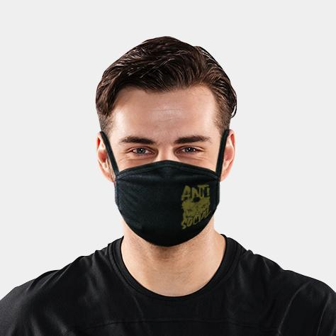 ANTI SOCIAL BLACK 4-LAYER FACE MASKS - SOLD OUT - LiveSore Australia