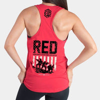 RED REMEMBER EVERYONE DEPLOYED WOMEN'S TANK TOP - LiveSore Australia