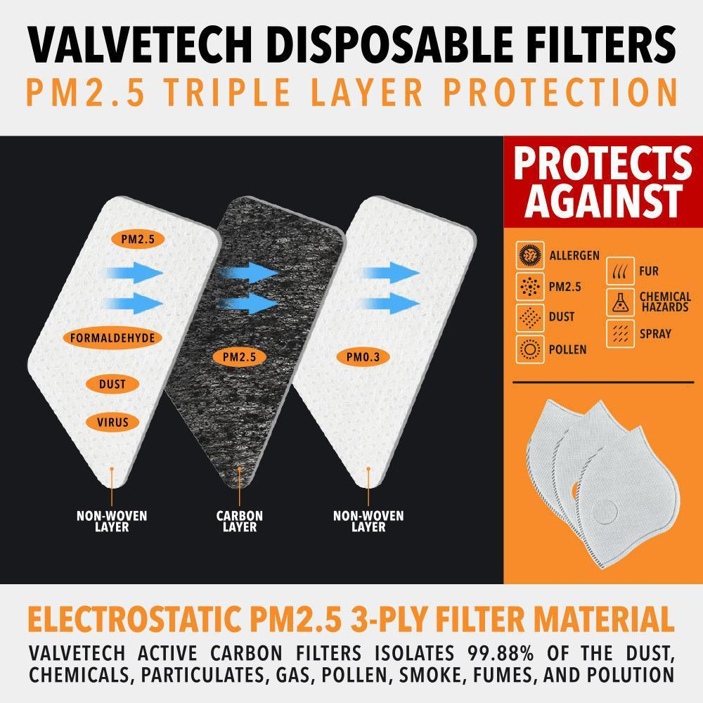 VALVETECH TRIPLE LAYER FILTER REPLACEMENTS - 10 PACK